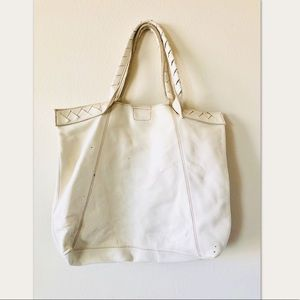 Banana Republic Large Ivory Tote Summer Purse